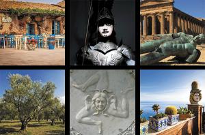 mosaïque de photos de Sicile